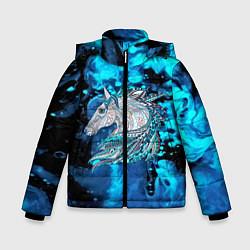 Куртка зимняя для мальчика Сказочная лошадь цвета 3D-черный — фото 1