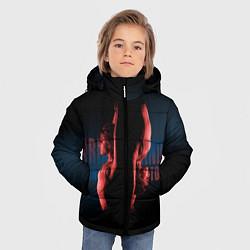 Куртка зимняя для мальчика Ariana Grande: Dangerous tour цвета 3D-черный — фото 2