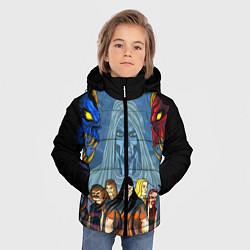 Детская зимняя куртка для мальчика с принтом Dethklok: Heroes, цвет: 3D-черный, артикул: 10134389106063 — фото 2