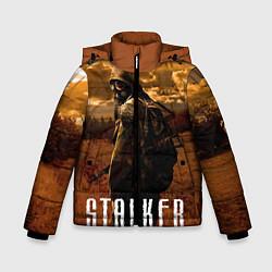 Куртка зимняя для мальчика STALKER: Radiation цвета 3D-черный — фото 1