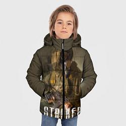 Детская зимняя куртка для мальчика с принтом STALKER: Warrior, цвет: 3D-черный, артикул: 10135205706063 — фото 2