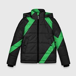 Куртка зимняя для мальчика Диагонали цвета 3D-черный — фото 1