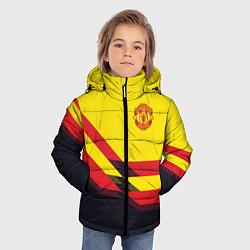 Куртка зимняя для мальчика Man United FC: Yellow style цвета 3D-черный — фото 2