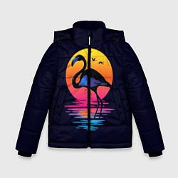 Куртка зимняя для мальчика Фламинго – дитя заката цвета 3D-черный — фото 1