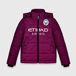 Куртка зимняя для мальчика Man City FC: Away 17/18 цвета 3D-черный — фото 1