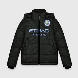 Детская зимняя куртка для мальчика с принтом Man City FC: Black 17/18, цвет: 3D-черный, артикул: 10137896506063 — фото 1