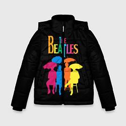 Куртка зимняя для мальчика The Beatles: Colour Rain цвета 3D-черный — фото 1