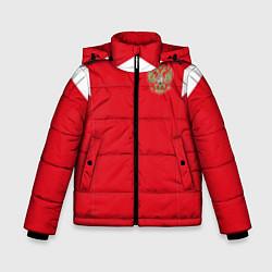 Куртка зимняя для мальчика Сборная России: ЧМ 2018 цвета 3D-черный — фото 1