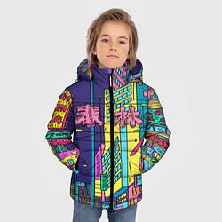 Детская зимняя куртка для мальчика с принтом Токио сити, цвет: 3D-черный, артикул: 10139888106063 — фото 2