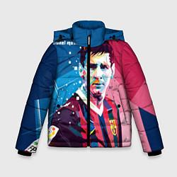 Куртка зимняя для мальчика Lionel Messi цвета 3D-черный — фото 1
