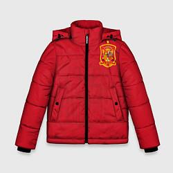 Куртка зимняя для мальчика Сборная Испании цвета 3D-черный — фото 1