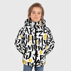 Детская зимняя куртка для мальчика с принтом Letters bombing, цвет: 3D-черный, артикул: 10142799106063 — фото 2