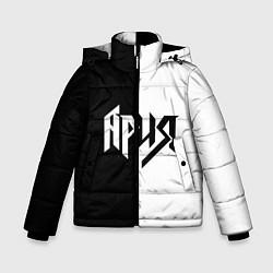 Куртка зимняя для мальчика Ария Ч/Б цвета 3D-черный — фото 1