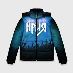 Детская зимняя куртка для мальчика с принтом Ария, цвет: 3D-черный, артикул: 10143033306063 — фото 1