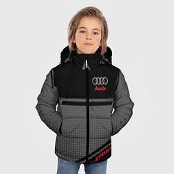 Куртка зимняя для мальчика Audi: Crey & Black цвета 3D-черный — фото 2