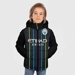 Детская зимняя куртка для мальчика с принтом FC Manchester City: Away 18/19, цвет: 3D-черный, артикул: 10146281106063 — фото 2