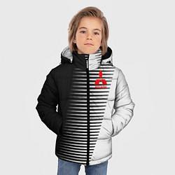 Куртка зимняя для мальчика MITSUBISHI SPORT цвета 3D-черный — фото 2
