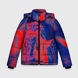 Детская зимняя куртка для мальчика с принтом T-Fest: Neon Style, цвет: 3D-черный, артикул: 10147367706063 — фото 1