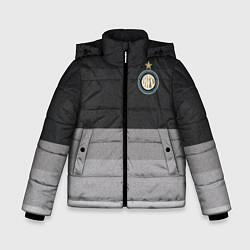 Детская зимняя куртка для мальчика с принтом ФК Интер: Серый стиль, цвет: 3D-черный, артикул: 10148313906063 — фото 1