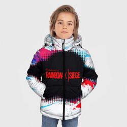 Куртка зимняя для мальчика R6S: Colour Style цвета 3D-черный — фото 2