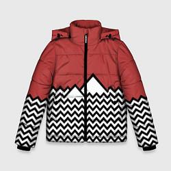 Куртка зимняя для мальчика Горы Твин Пикс цвета 3D-черный — фото 1