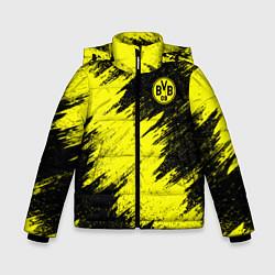 Куртка зимняя для мальчика FC Borussia Dortmund цвета 3D-черный — фото 1