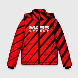 Куртка зимняя для мальчика Mass Effect: Red Style цвета 3D-черный — фото 1