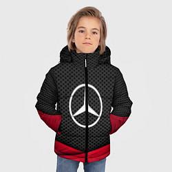 Куртка зимняя для мальчика Mercedes Benz: Grey Carbon цвета 3D-черный — фото 2
