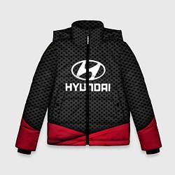 Куртка зимняя для мальчика Hyundai: Grey Carbon цвета 3D-черный — фото 1