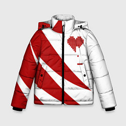 Куртка зимняя для мальчика Игра в сердца цвета 3D-черный — фото 1