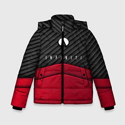 Куртка зимняя для мальчика Infiniti: Red Carbon цвета 3D-черный — фото 1