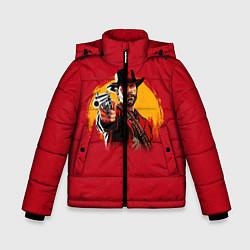 Куртка зимняя для мальчика Red Dead Redemption: Cowboy цвета 3D-черный — фото 1