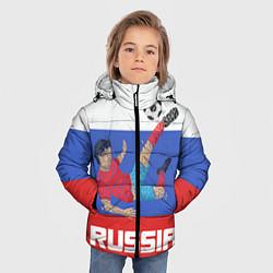 Куртка зимняя для мальчика Russia Footballer цвета 3D-черный — фото 2