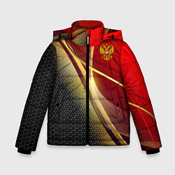Куртка зимняя для мальчика RUSSIA SPORT: Gold Collection цвета 3D-черный — фото 1