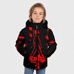 Куртка зимняя для мальчика Queen: Blood Style цвета 3D-черный — фото 2