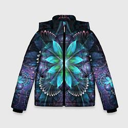 Куртка зимняя для мальчика Астральная мандала цвета 3D-черный — фото 1