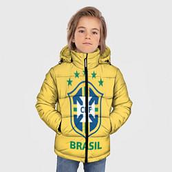 Детская зимняя куртка для мальчика с принтом Brazil Team, цвет: 3D-черный, артикул: 10154256306063 — фото 2