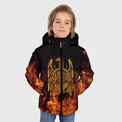 Детская зимняя куртка для мальчика с принтом Slayer: Fire Eagle, цвет: 3D-черный, артикул: 10155330106063 — фото 2