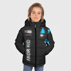 Куртка зимняя для мальчика Detroit: Android RK800 цвета 3D-черный — фото 2