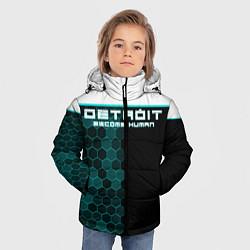Куртка зимняя для мальчика Detroit: Cyber Hexagons цвета 3D-черный — фото 2