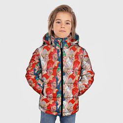 Куртка зимняя для мальчика Истинные фанаты России цвета 3D-черный — фото 2