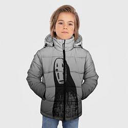 Детская зимняя куртка для мальчика с принтом Унесенные призраками, цвет: 3D-черный, артикул: 10155852706063 — фото 2