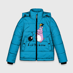 Детская зимняя куртка для мальчика с принтом Унесённые призраками, цвет: 3D-черный, артикул: 10155954506063 — фото 1