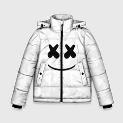 Куртка зимняя для мальчика Marshmello: White Face цвета 3D-черный — фото 1