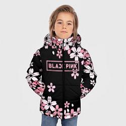 Куртка зимняя для мальчика Black Pink: Pink Sakura цвета 3D-черный — фото 2