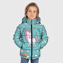 Куртка зимняя для мальчика Сказочный единорог цвета 3D-черный — фото 2