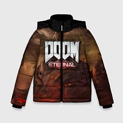 Куртка зимняя для мальчика DOOM: Eternal цвета 3D-черный — фото 1