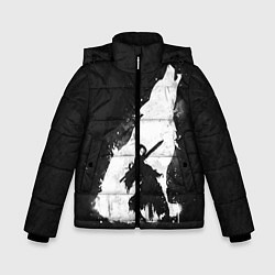 Куртка зимняя для мальчика Dark Souls: Howling Wolf цвета 3D-черный — фото 1