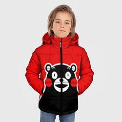 Детская зимняя куртка для мальчика с принтом Kumamon Smile, цвет: 3D-черный, артикул: 10162548106063 — фото 2