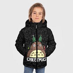 Куртка зимняя для мальчика Totoro Christmas цвета 3D-черный — фото 2